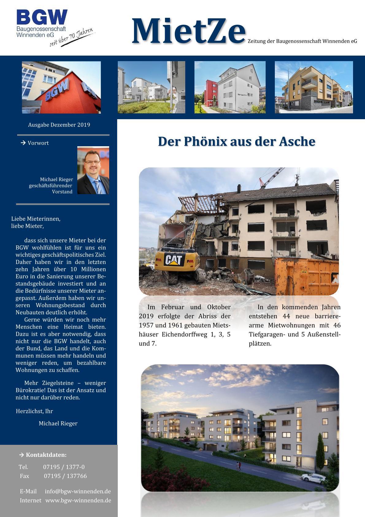 Deckblatt Mietze 2019 - Infos